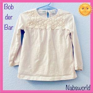 BOB DER BAR WHITE CROCHETED LONG SLEEVE SHIRT! 🌞